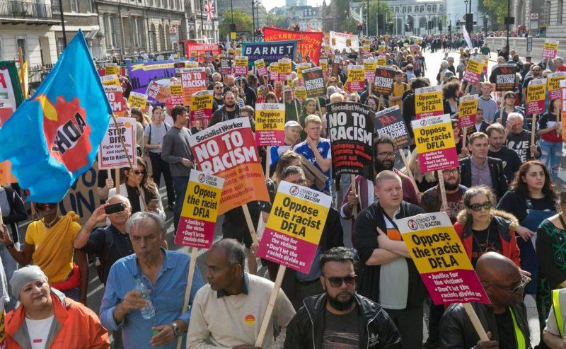 Antifascismo londinese: Ieri in migliaia contro la D-FLA