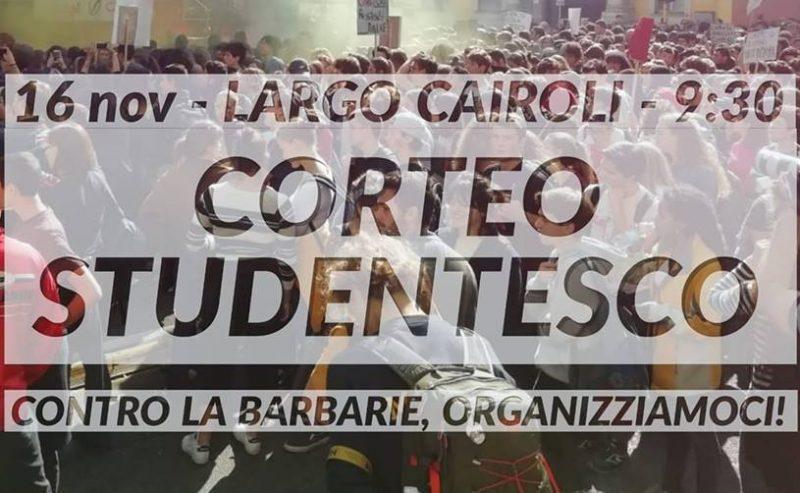 Studenti contro il governo – Corteo – 16Nov