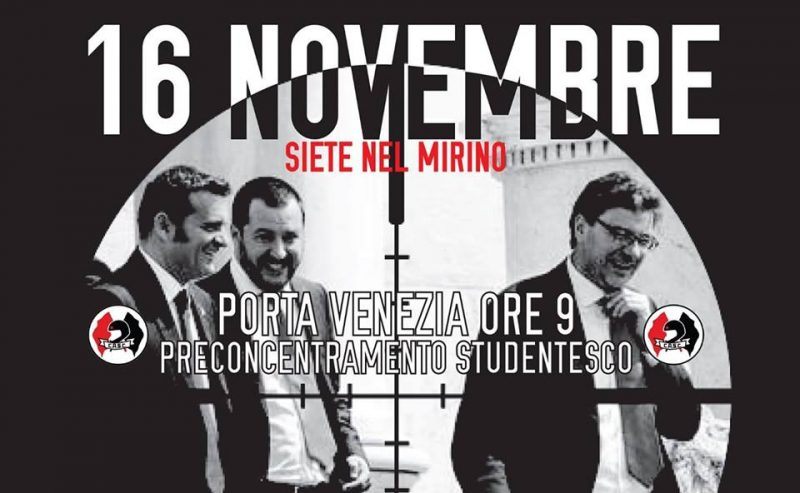 16NOV – Preconcentramento Studentesco @ Porta Venezia ore 9