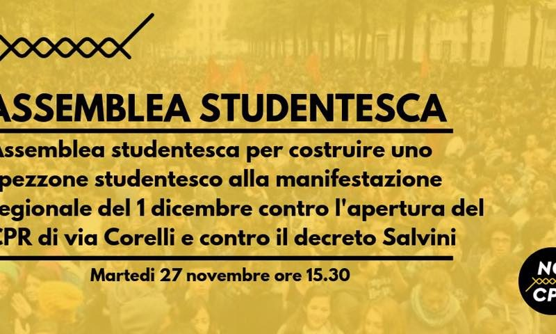 27NOV: assemblea dei collettivi in vista del corteo del 1/12