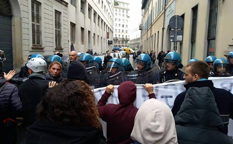Milano – Studenti antifascisti vs. Borghezio