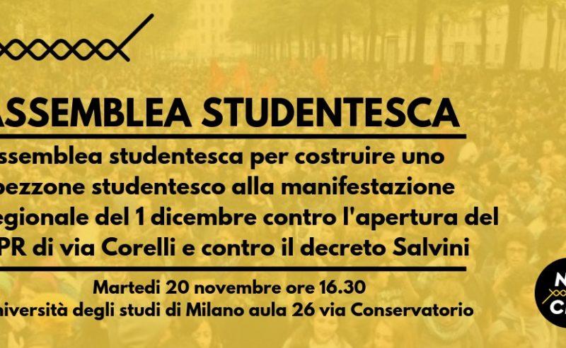 Assemblea Studentesca // NO CPR 20 Novembre h16.30 @ Scienze Politiche