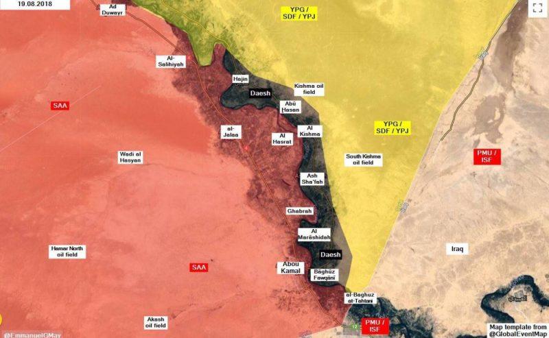 L'ultima battaglia contro lo stato islamico, fronte di Hajin e Deir Zor.