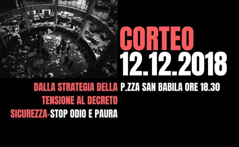Piazza Fontana – Corteo per non dimenticare la strage di Stato – 12 dicembre @ piazza San Babila