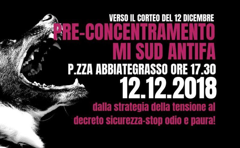 12 dicembre_corteo_pre-concentramento mi-sud antifa @ piazza Abbiategrasso