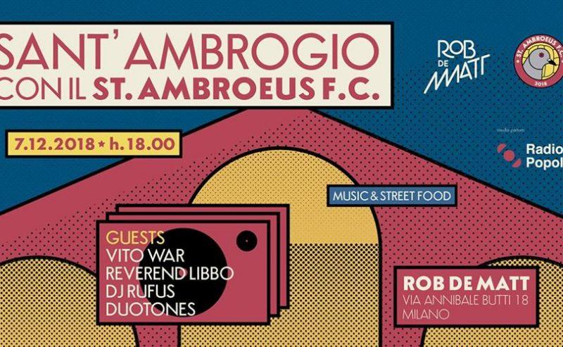 Festa di Sant'Ambrogio con il Sant'Ambroeus // @ Rob de Matt – 7 dicembre