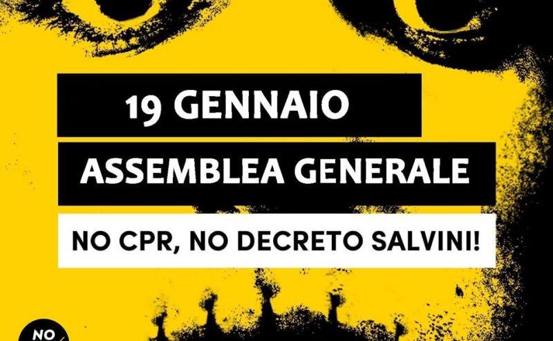 No CPR, No DL Salvini ● Assemblea Generale