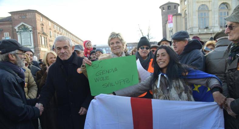 Manifestazione SìTav: solo campagna elettorale, niente di spontaneo