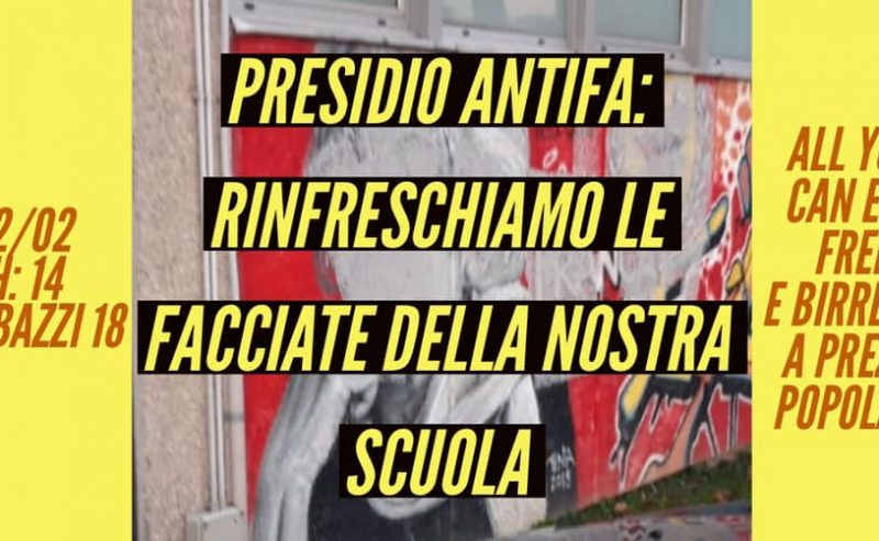 Presidio antifascista all'Agnesi