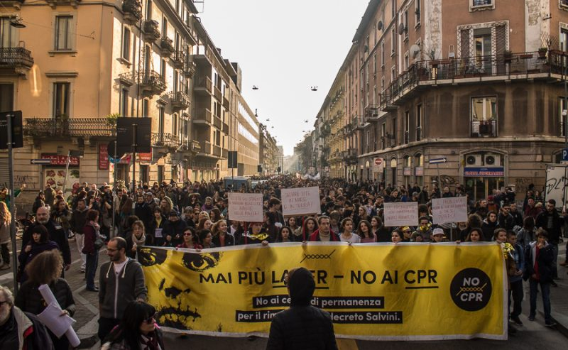 NO CPR in corteo per le strade di Milano – Photogallery