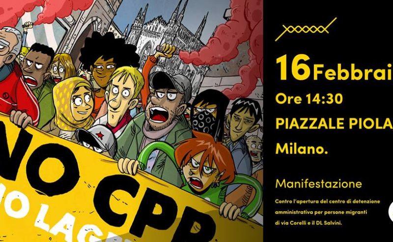 16 febbraio – Manifestazione contro il decreto Salvini e i CPR