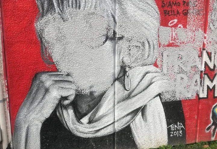 Vile azione fascista al Liceo Agnesi – imbrattato il murale di Franca Rame