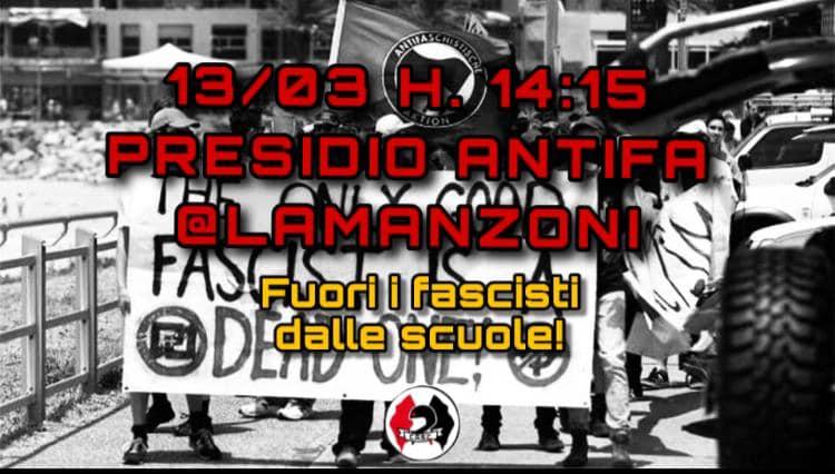 Presidio antifa – 13 marzo @ linguistico Manzoni