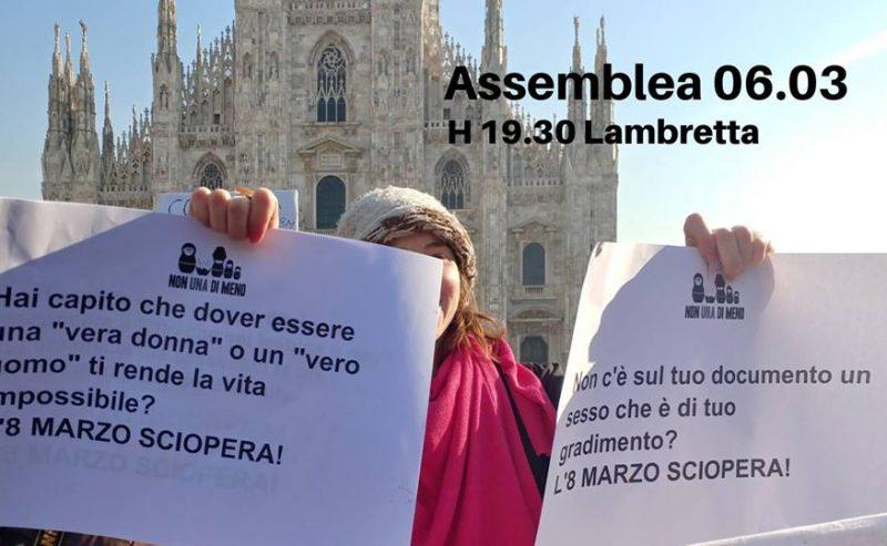 Assemblea NUDM Milano Verso l'8 marzo – 6 marzo @ Lambretta