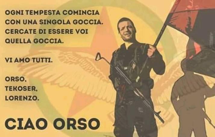 Ciao Orso – Comunicato Combattenti Italian* YPG-YPJ