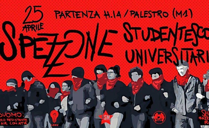 25 Aprile spezzone studentesco e universitario