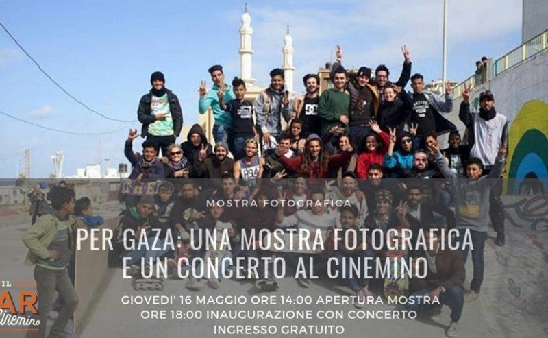 Per Gaza: una mostra fotografica e un concerto al Cinemino – 16 maggio