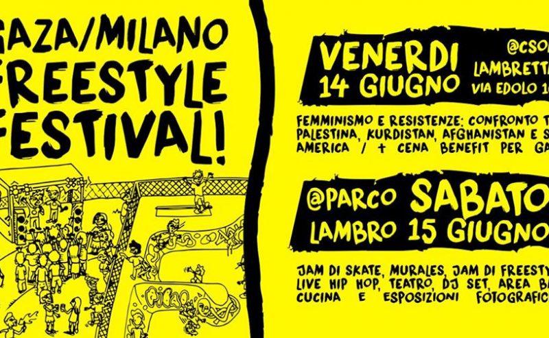 Gaza/Milano FREEstyle Festival – 14/15 giugno @ Parco Lambro