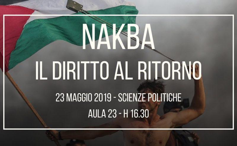 Nakba – Il Diritto Al Ritorno – 23 maggio @ Scienze Politiche