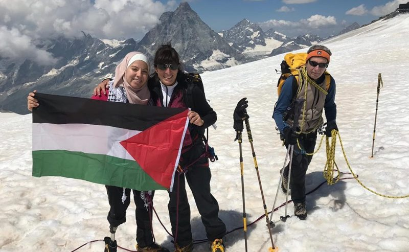 Una ragazza palestinese sul tetto del mondo!