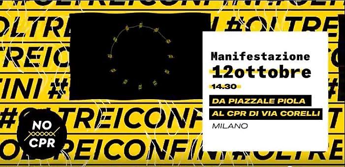 12 ottobre – Manifestazione contro CPR e Decreti Salvini