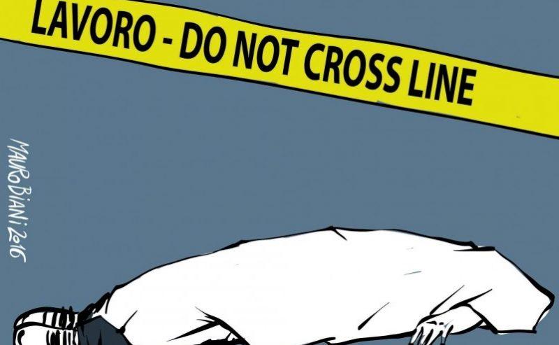 Aumentano i morti sul lavoro (e calano premi, ispettori e controlli)