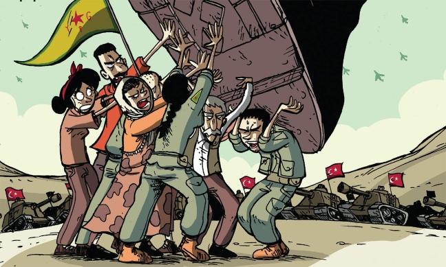 Attacco a tutto campo contro i curdi