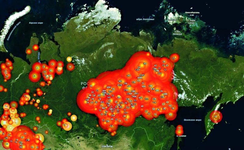 Allarme russo, in Siberia incendi fuori controllo e inondazioni