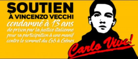 Un comitato di sostegno contro l'estradizione di Vincenzo in Italia