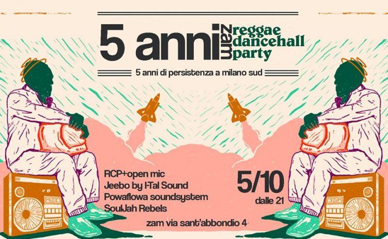 5 anni-zam-Milanosud! Party reggae&dancehall – 5 ottobre @ ZAM