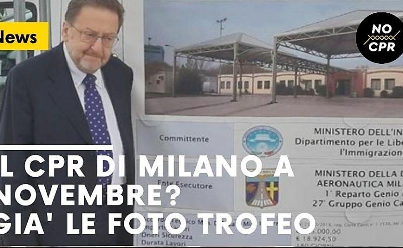 Il Cpr di Milano a novembre? Già le foto trofeo