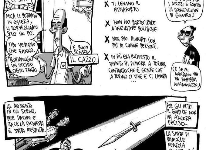 Torino 15 ottobre Sorveglianza speciale: la spada di Damocle penzola un altro po'