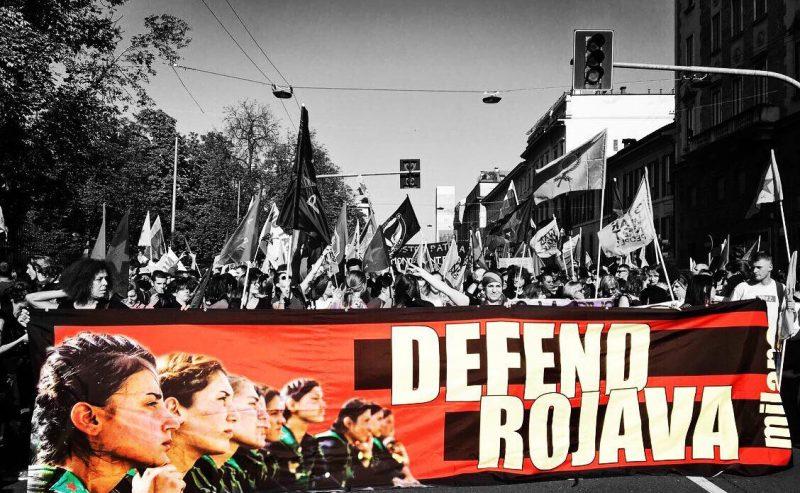 Non restare indifferenti al massacro! Più di 10.000 in piazza per il Rojava