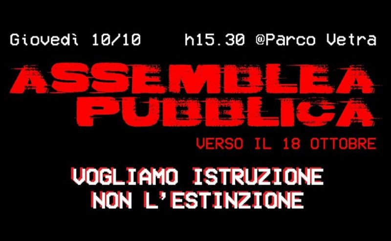 Assemblea Pubblica verso il 18/10! – 10 ottobre @ Parco delle Basiliche