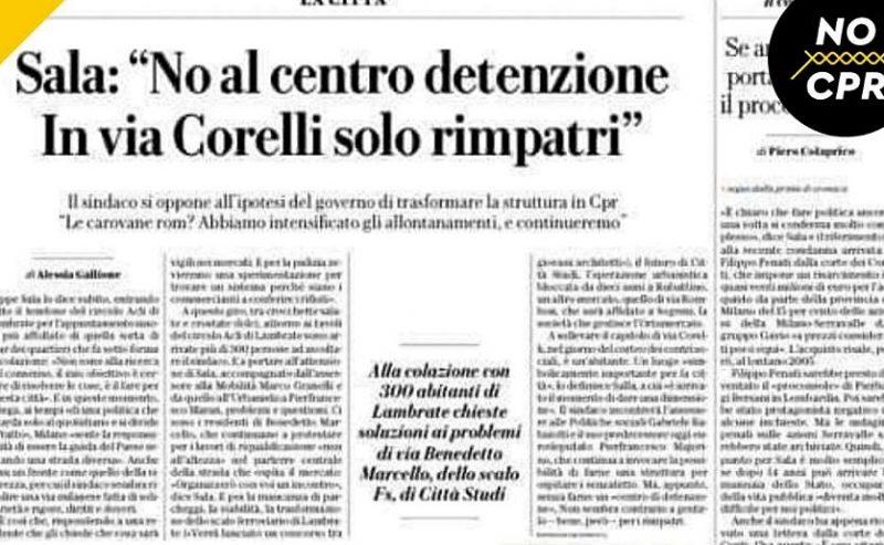 """Sala: """"In via Corelli solo rimpatri"""". Scusi Sindaco…cioè!?"""
