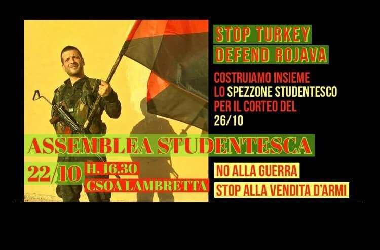 Studentes defend Rojava: costruzione spezzone studentesco – 22 ottobre @ Lambretta