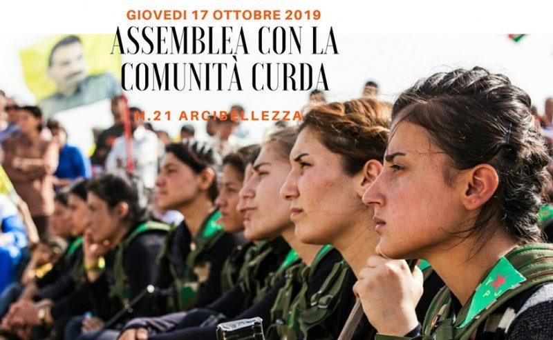 Assemblea con la comunità curda – Mobilitiamoci per il Rojava! – 17 ottobre