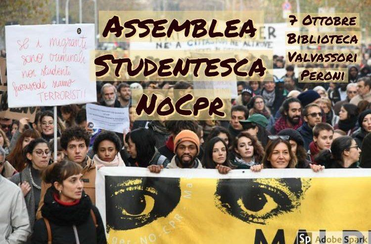 7 Ottobre: assemblea studentesca No Cpr @ Biblioteca Valvassori Peroni