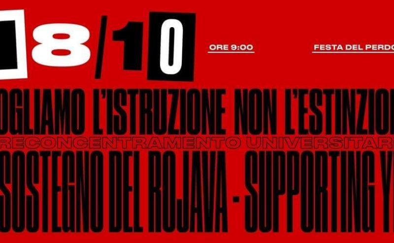 18/10 – NO caro affitti|Support Rojava – preconcentramento UNIMi