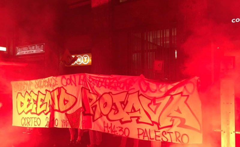 Studenti a fianco del Rojava – Azione solidale alla Turkish Airlines di Milano