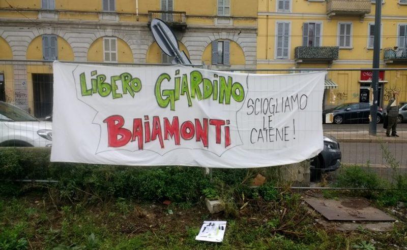 In difesa del giardino di Baiamonti! Assemblea il 4 novembre