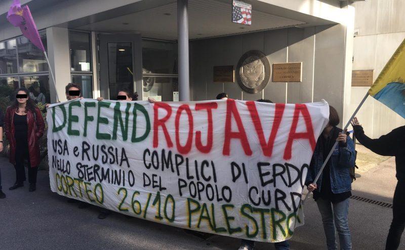 Defend Rojava – Blitz ai consolati di USA e Russia