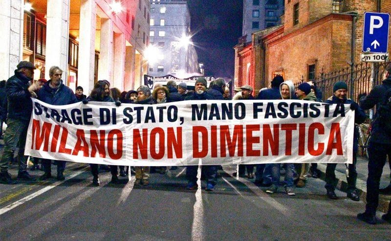 12 dicembre 2019, Milano – Corteo cittadino che attraverserà la città toccando i luoghi che hanno segnato la storia