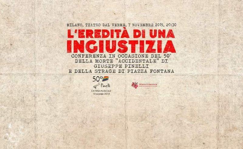 Conferenza Nel 50° Di Giuseppe Pinelli – 7 novembre @ Teatro Dal Verme