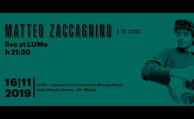 Matteo Zaccagnino & The Stoics | Live @ LUMeSuono – 16 novembre