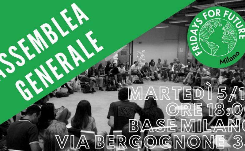 Assemblea #FridaysForFuture Milano | 5 Nov @Base Milano