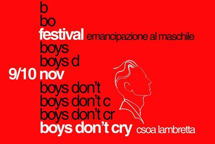 Boys Don't Cry – Festival emancipazione al maschile