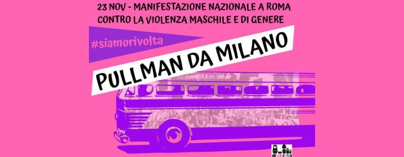 Pullman da Milano – manifestazione nazionale NonUnaDiMeno!