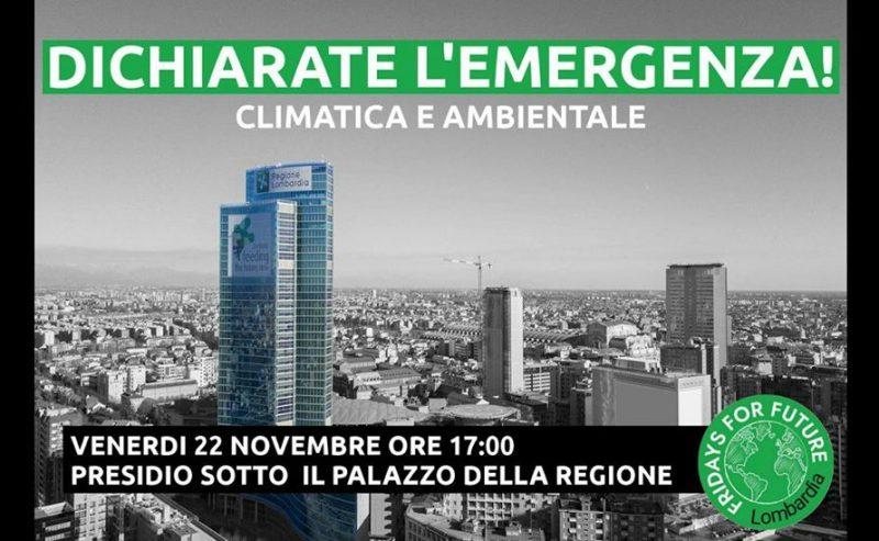 Presidio a Regione Lombardia – Dichiarate l'Emergenza!