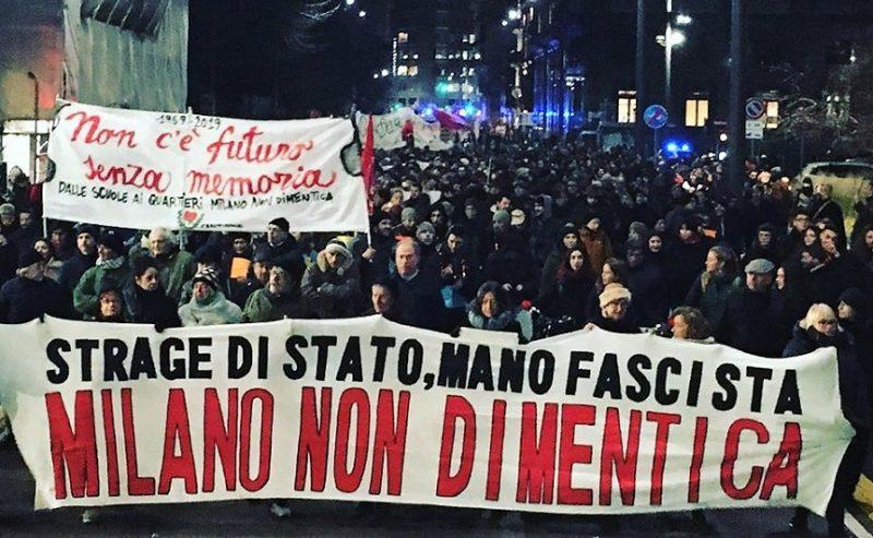 Più di 3.000 in piazza per i 50 anni di Piazza Fontana